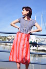 Candy-stripes-vintage-skirt