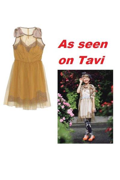 gold Rodarte for Target dress