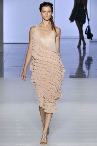 Preen Spring 09 dress - American Apparel dress - Lobby blouse - Christian Loubou