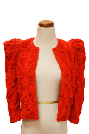 red H&M jacket
