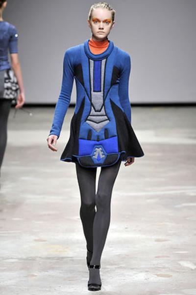 Natalie Encarnita top - donna karen dress - James Perse sweater - Davis by Ruthi