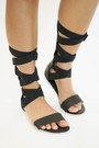 black gladiator Cici Hot sandals
