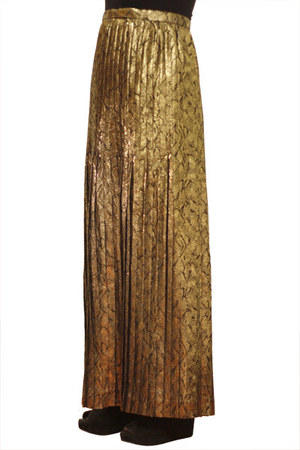 gold skirt Oscar de la Renta skirt