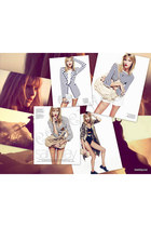 Marni jacket - Givenchy blazer - tory burch blouse - gold Nina Ricci accessories