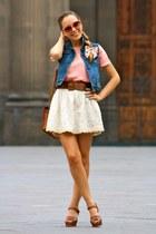 pull&bear shirt - Zara skirt - Pilar Burgos heels