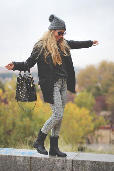 BLANCO boots - New Yorker jeans - BLANCO hat - BLANCO blazer - Parfois bag