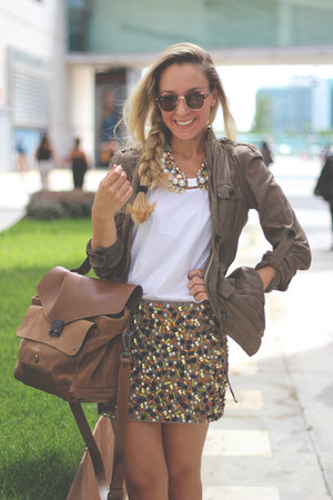 H&M skirt - Zara blazer - Janet & Janet bag - Ebay t-shirt - H&M necklace