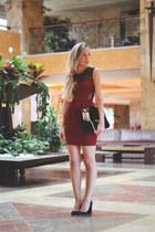 eBayes dress - pull&bear bag - YSL ring - Venca heels