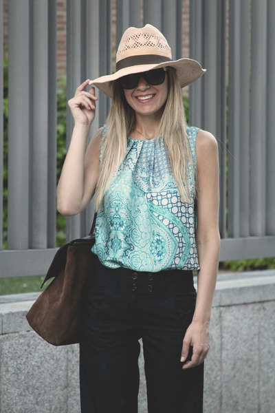 Celop Punto top - H&M hat - Georgia Rose bag - Dolce Gabbana sunglasses
