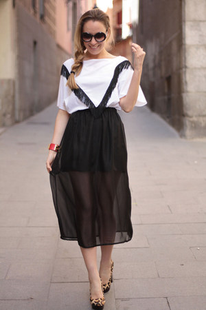 Sheinside skirt - Mentirosas t-shirt