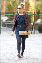 BLANCO dress - H&M blazer - BLANCO bag - Zara flats - BLANCO belt - H&M ring