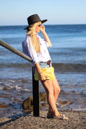 Zara hat - Suit Blanco shorts - H&amp;M wallet - Rocket Dog flats