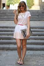 Zara bag - Zara t-shirt - gaats skirt - romwe flats - Primark belt