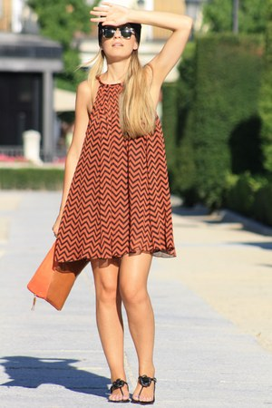 Parfois sandals - H&M dress - Zara bag