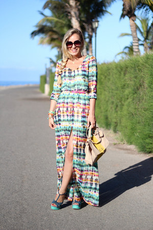 Zara dress - Poisson bleu bag - zilian sandals