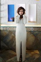 ivory nude Steve Madden wedges - ivory Shruti S dress