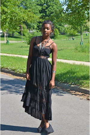Shakuhachi dress - black suede H&M wedges