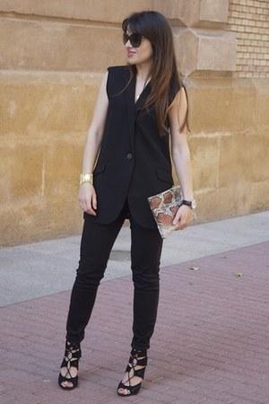 black paname dior sunglasses - burnt orange animal print Telva bag