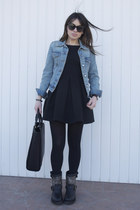 black titan destroyer ASH boots - black Zara dress - camel Zara coat
