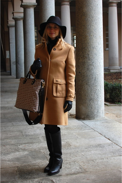 Tommy Hilfiger boots - Burberry coat - Max Mara hat - benetton scarf