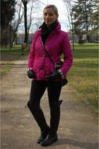 Burberry jacket - Guess boots - Zara leggings - Michael Kors bag