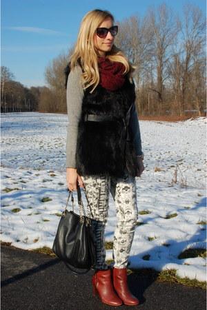 Zara boots - Mango jeans - lindex scarf - Michael Kors bag - firmoo sunglasses