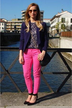 H&M blazer - Max Mara bag - Zara pumps - H&M blouse