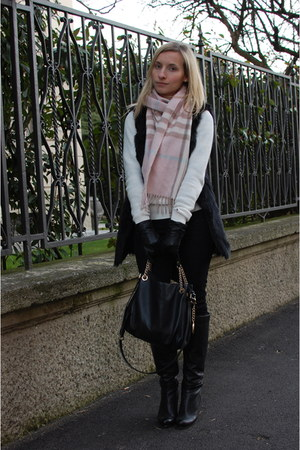 DKNY boots - Tommy Hilfiger sweater - Michael Kors bag - Zara pants