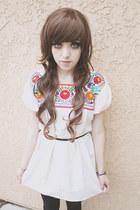 ivory mexican handmade dress - black Forever 21 leggings