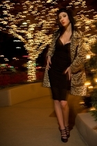 lipservice dress - forever 21 shoes - vintage coat