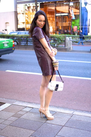 Zara dress - Fendi bag - Yves Saint Laurent heels