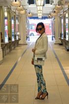 Zara blazer - agnes b top - karen millen pants