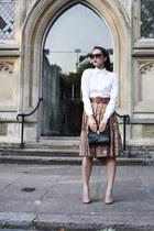 Pole skirt - asos shirt - Yves Saint Laurent bag - Christian Louboutin heels