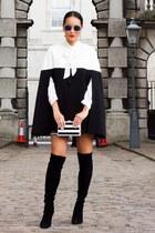 Gina bacconi cape - stuart weitzman boots