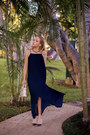 Navy-long-massimo-dutti-dress-gold-pashli-31-phillip-lim-bag