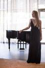 Black-maxi-the-jetset-diaries-dress-dark-gray-rockstud-valentino-heels