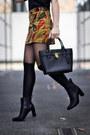 Mustard-paisley-zara-skirt-black-ankle-massimo-dutti-boots