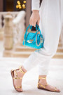 Aquamarine-croc-versace-bag-gold-leaf-headband-claires-hair-accessory