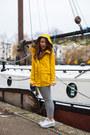 Yellow-rain-urban-outfitters-coat-black-gingham-asos-leggings