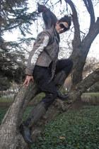 REPLAY boots - Ralph Lauren sweater - REPLAY blazer - nike pants