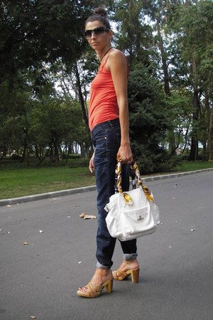 acne jeans - vivienne westwood bag - Fendi sunglasses - Diesel wedges