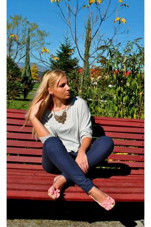 Orsay blouse - Urban Outfitters flats - Bershka pants