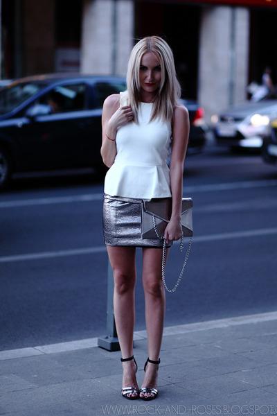 ivory H&M top