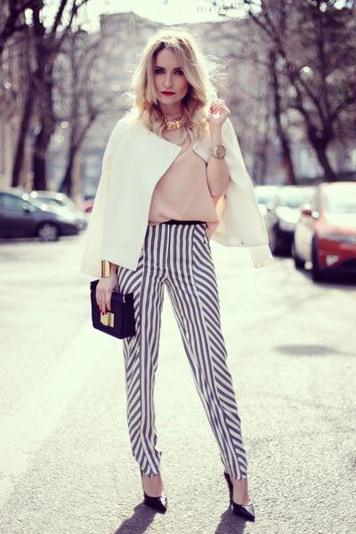 White-h-m-blazer