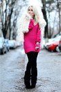 Ivory-new-look-coat-hot-pink-glowfashionro-sweater-black-no-name-bag