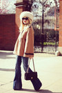 Bronze-topshop-coat-blue-mango-jeans-black-chanel-purse