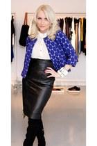 Marni blazer - Zara boots - Topshop shirt - vintage skirt - Marni bracelet