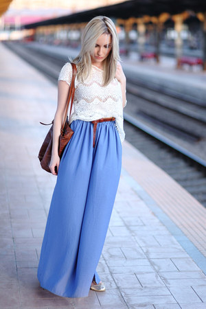 blue Bershka skirt