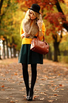 green H&M dress - yellow H&M sweater