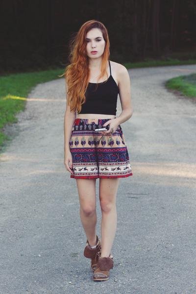 chiffon Sheinside shorts - cotton Sheinside top